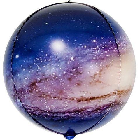Воздушный шар фигура 3D сфера, Млечный путь, 61 см