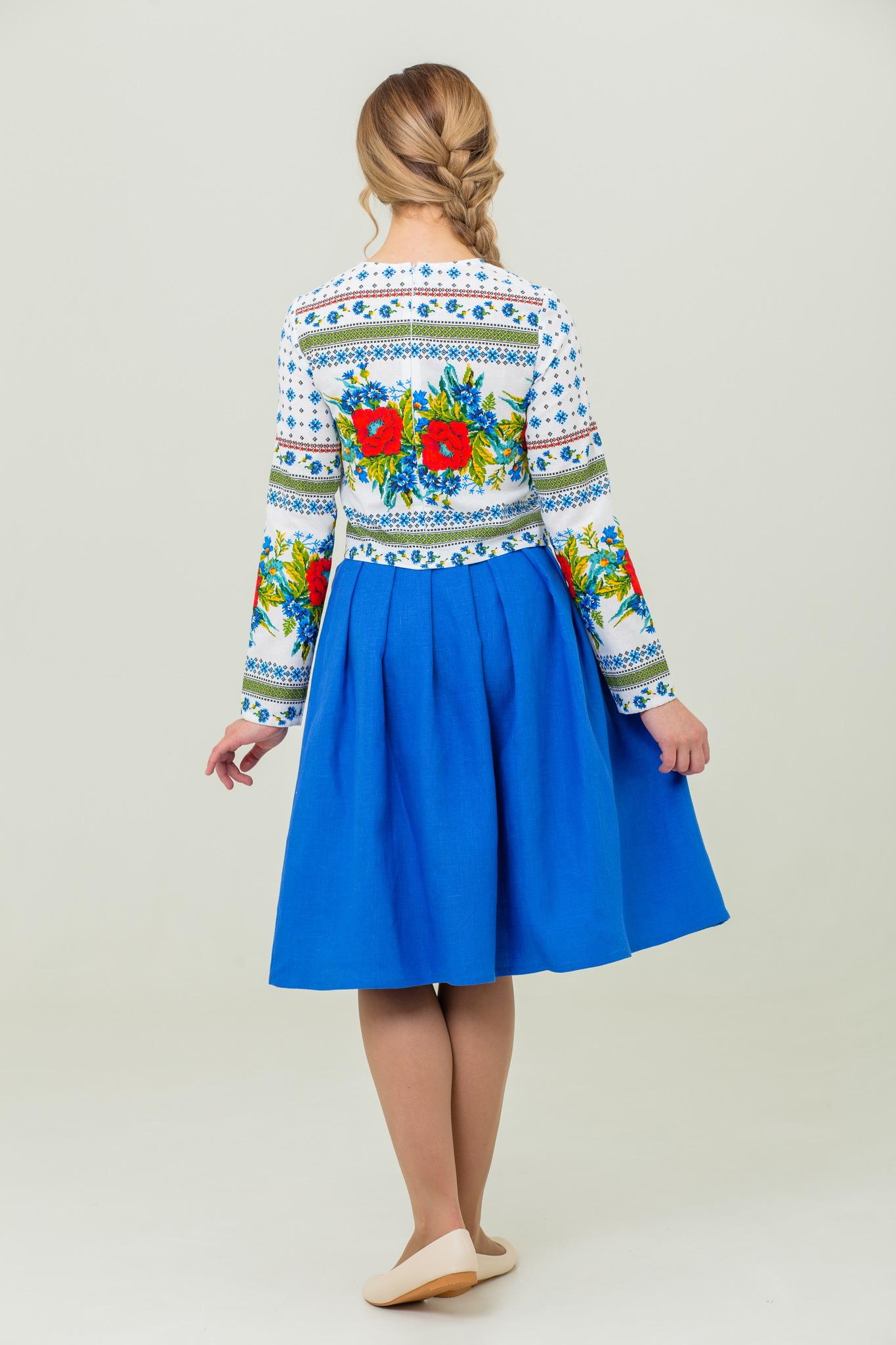 Блуза и юбка в русском стиле Маков цвет