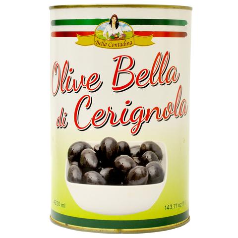 BC Черные оливки в рассоле  Bella Contadina ж/б 4250 г