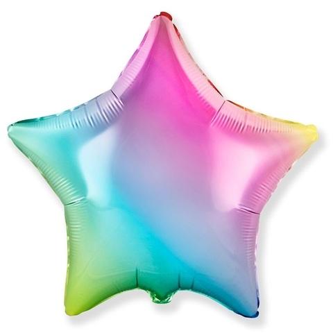 Звезда радужная разноцветная, градиент, 81 см