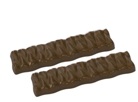 Форма поликарбонатная для шоколада - Батончик Две палочки