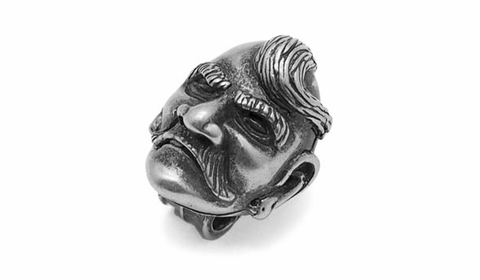 Бусина для темляка Голова казака серебряная PTB15S
