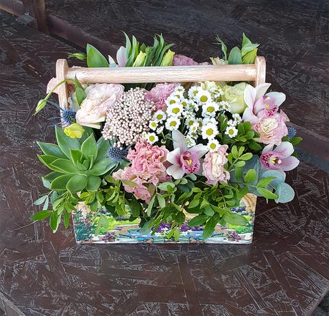 Ящик с цветами Природа