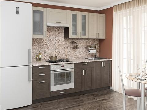 Кухня Лофт-3 wenge veralinga, cappuccino veralinga