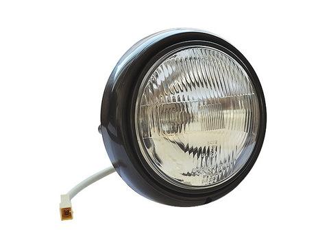 Фара (ФГ122) Уаз 452, 469 в сборе с наружным ободком, проводом и обычной лампой (пр-во Wassa)