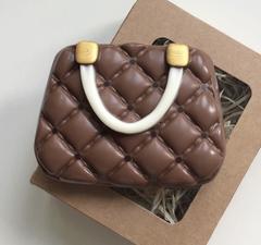 Пластиковая форма для шоколада жен. СУМОЧКА в пухлый ромбик 65х85мм