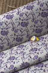 Ткань интерьерная, фиолетовая лилия