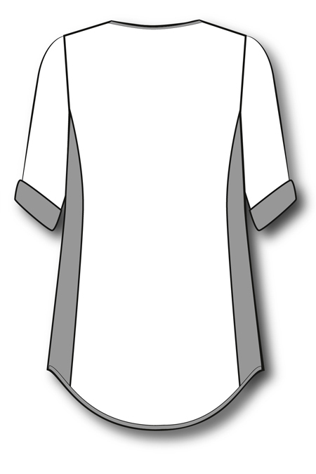 Выкройка туники с боковыми вставками на заказ