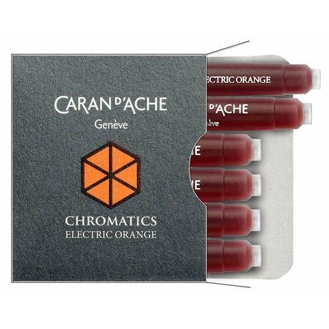 Картридж Carandache Chromatics (8021.052) electric erange для перьевых ручек 6шт в уп