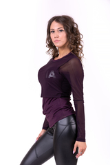 Женский рашгард Nebbia Flash-Mesh longsleeve shirt 664 burgundy