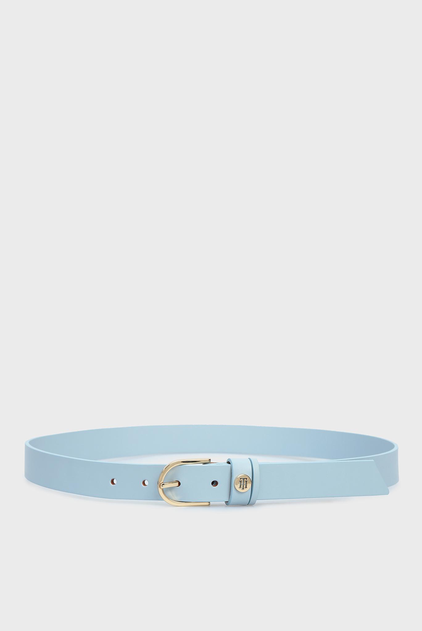 Женский голубой кожаный ремень CLASSIC Tommy Hilfiger