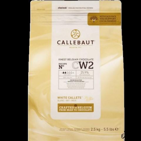 Белый Бельгийский Шоколад (таблетки) 25.9% BARRY CALLEBAUT, 250 гр