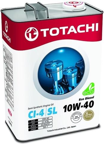 Eco Diesel 10W-40 TOTACHI масло дизельное моторное полусинтетическое (4 Литра)