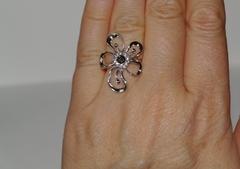 1100161-раухтопаз (кольцо из серебра)