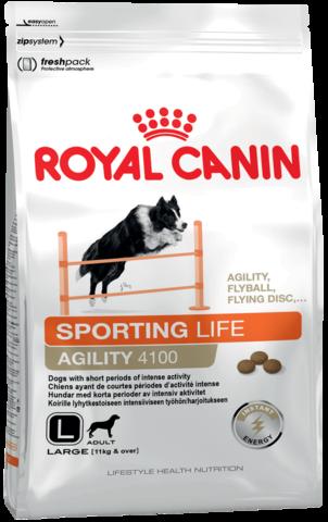 Для взрослых собак крупных размеров (весом более 10 кг), с физической активностью кратковременного интенсивного характера