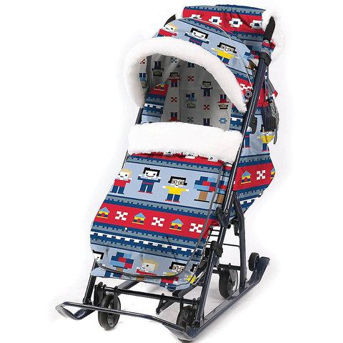 Санки-коляска Nika Ника детям 7-5, в стиле лего