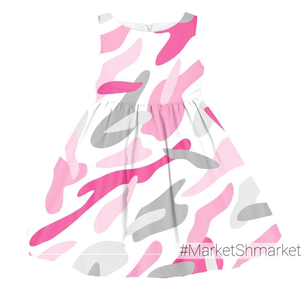 Розово-серый камуфляж. Абстрактный принт