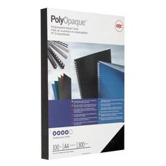 Обложки для переплета пластиковые GBC А4 300 мкм черные с тиснением (100 штук в упаковке)