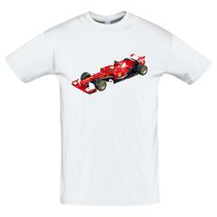 Футболка с принтом Формула-1 (Гонки/ F1/ Formula 1) белая 0019