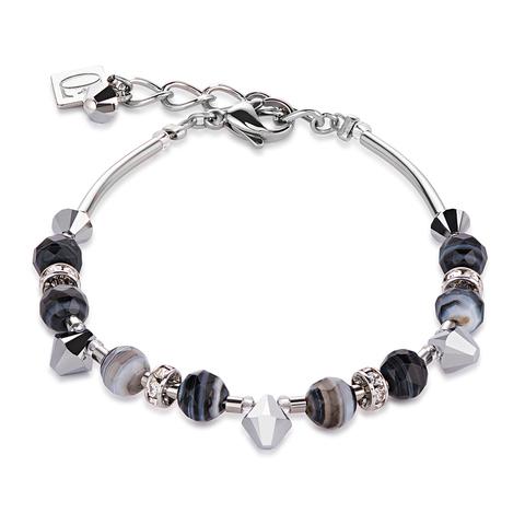 Браслет Coeur de Lion 4894/30-1314 цвет серый, чёрный, серебряный