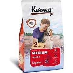 KARMY Медиум Юниор сухой корм для щенков средних пород (индейка) 2кг