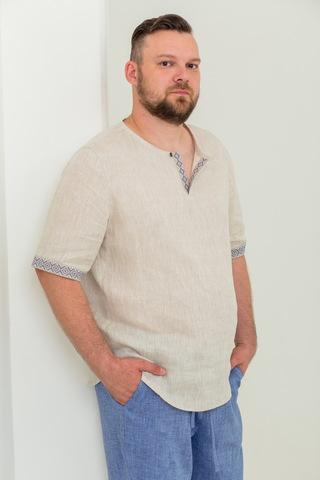 Мужская рубашка Русское поле из льна