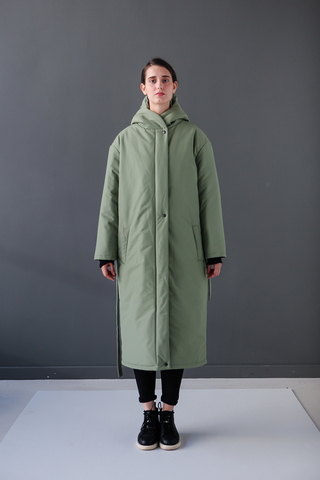Пальто Buttermilk Garments — Oversized Long Jacket зеленое