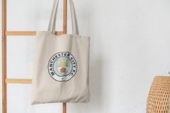 Сумка-шоппер с принтом FC Manchester City (ФК Манчестер Сити) бежевая 004