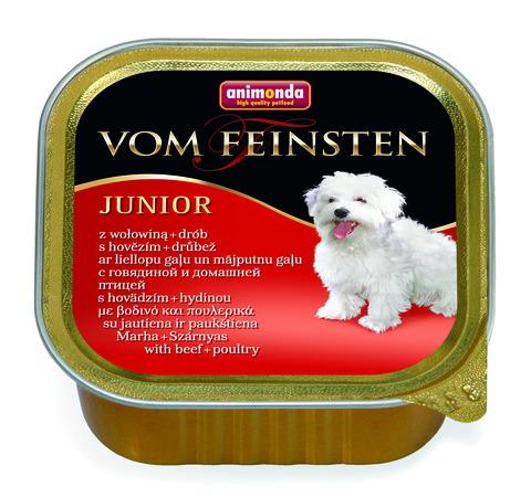 Консервы Animonda Vom Feinsten Junior с говядиной и мясом домашней птицы для щенков и юниоров