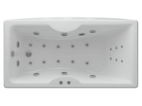 Ванна акриловая Auatek Феникс 190х90cм. на каркасе и сливом-переливом.