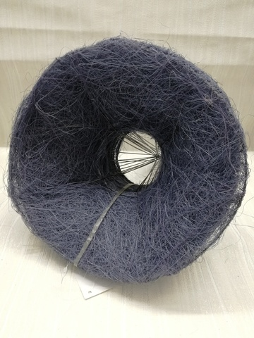 Каркас для букета гладкий (сизаль, диаметр: 15 см) Цвет: фиолетовый