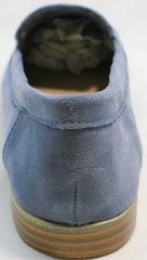 Осенние туфли без каблука женские Seastar T359P Blue.