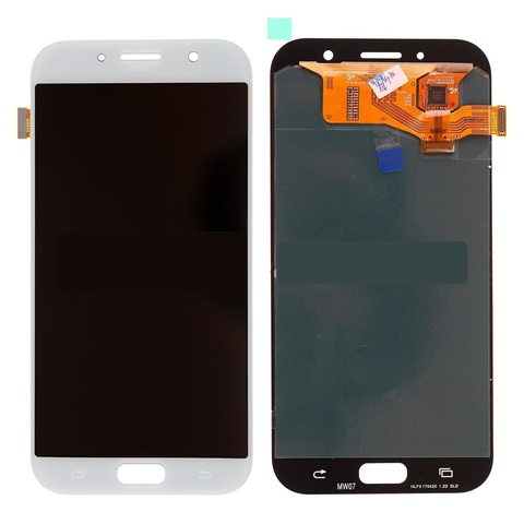 LCD SAMSUNG A7 2017 A720F + Touch White OLED MOQ:5