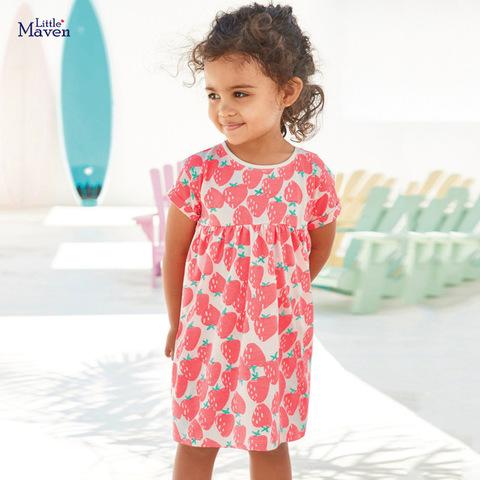 Платье для девочки Little Maven Клубнички.
