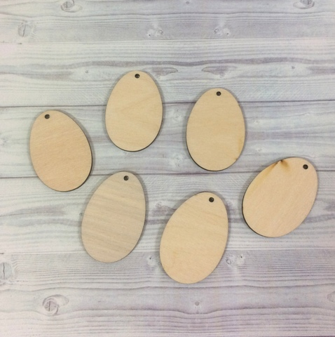 056-9293 Набор деревянных заготовок - яйца (6 шт.)