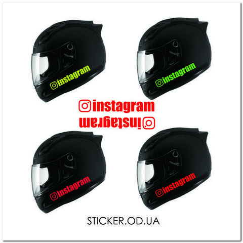 Кислотные наклейки на шлем
