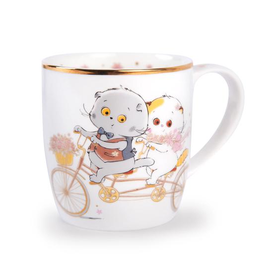 Кружка кот Басик Романтическая прогулка