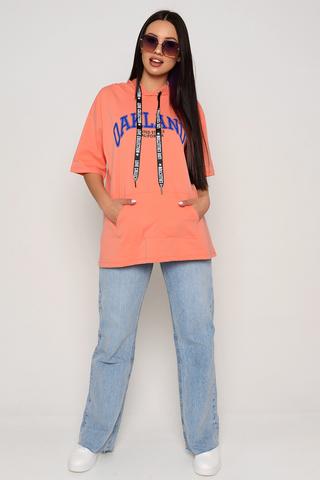 <p>Футболка-худи отличный вариант на каждый день! Уместно носить в этом сезоне с джинсами, джоггерами из эко-кожи, юбками и даже с удлиненным жакетом! Супер актуальная вещь.&nbsp;</p> <p>Один размер: 46-50</p>