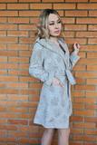 Махровый халат с велюровыми цветами Luna di Giorno