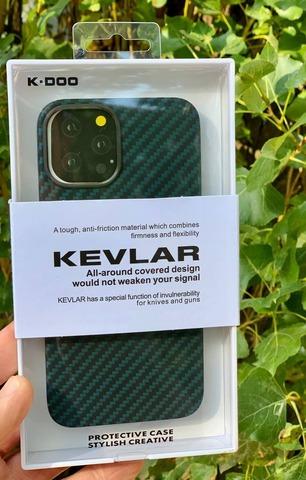 Чехол iPhone 12 Pro Max /6,7''/ K-DOO Kevlar case /green/
