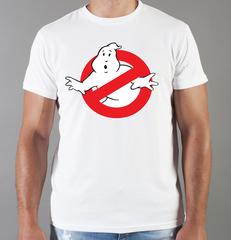 Футболка с принтом Охотники за привидениями (Ghostbusters) белая 009