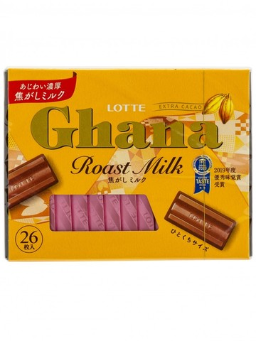 Шоколад ГАНА Экселент, топленое молоко, набор 4,6 гр*26 шт., Lotte, 119,6 гр.