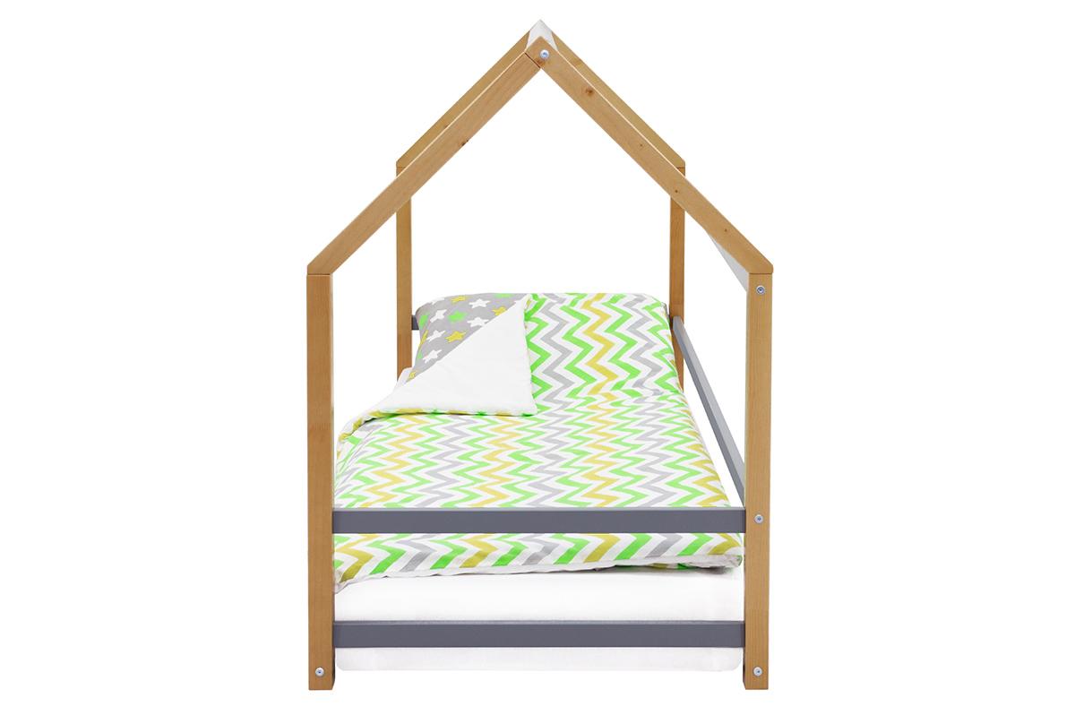 Кровать-домик Монтессори «Svogen» дерево-графит