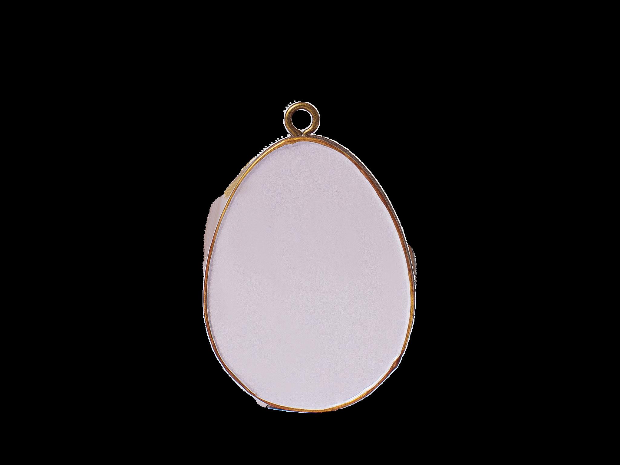Пасхальное украшение Яйцо без Декора, цвет: светло-лиловый