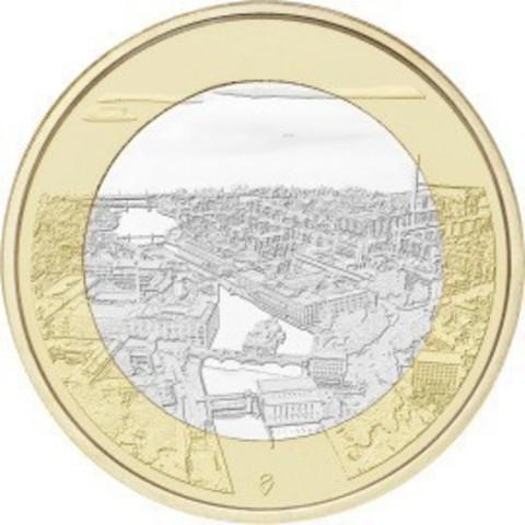 """5 евро Финляндия """"Финские национальные ландшафты Таммеркоски"""" 2018 год"""