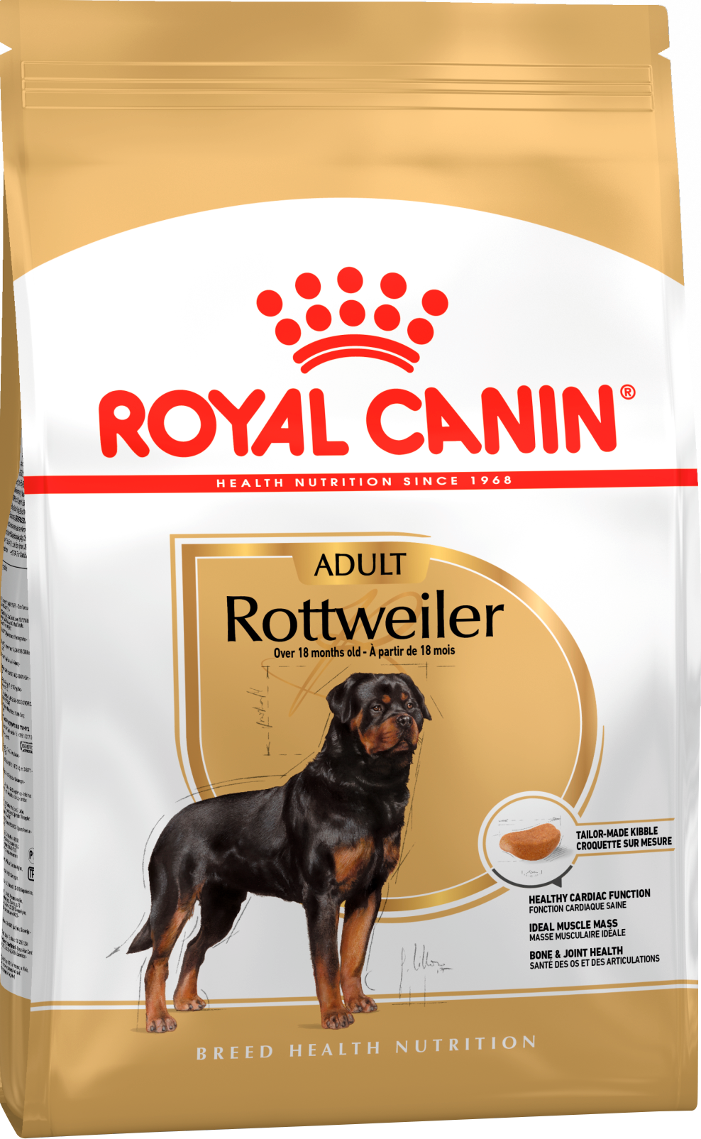 Royal Canin Корм для взрослых собак породы ротвейлер, Royal Canin Rottweiler Adult 364120.png
