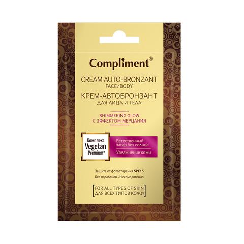 Compliment Крем- автобронзант для лица и тела с эффектом мерцания