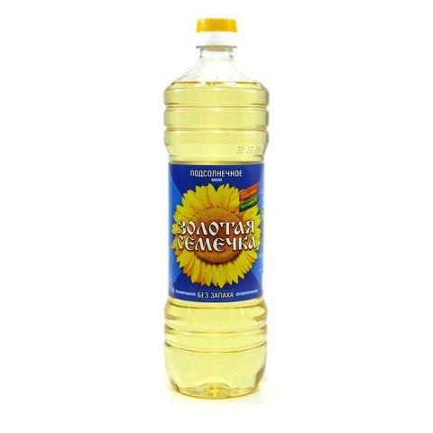 Масло подсолнечное Золотая семечка 1 л.