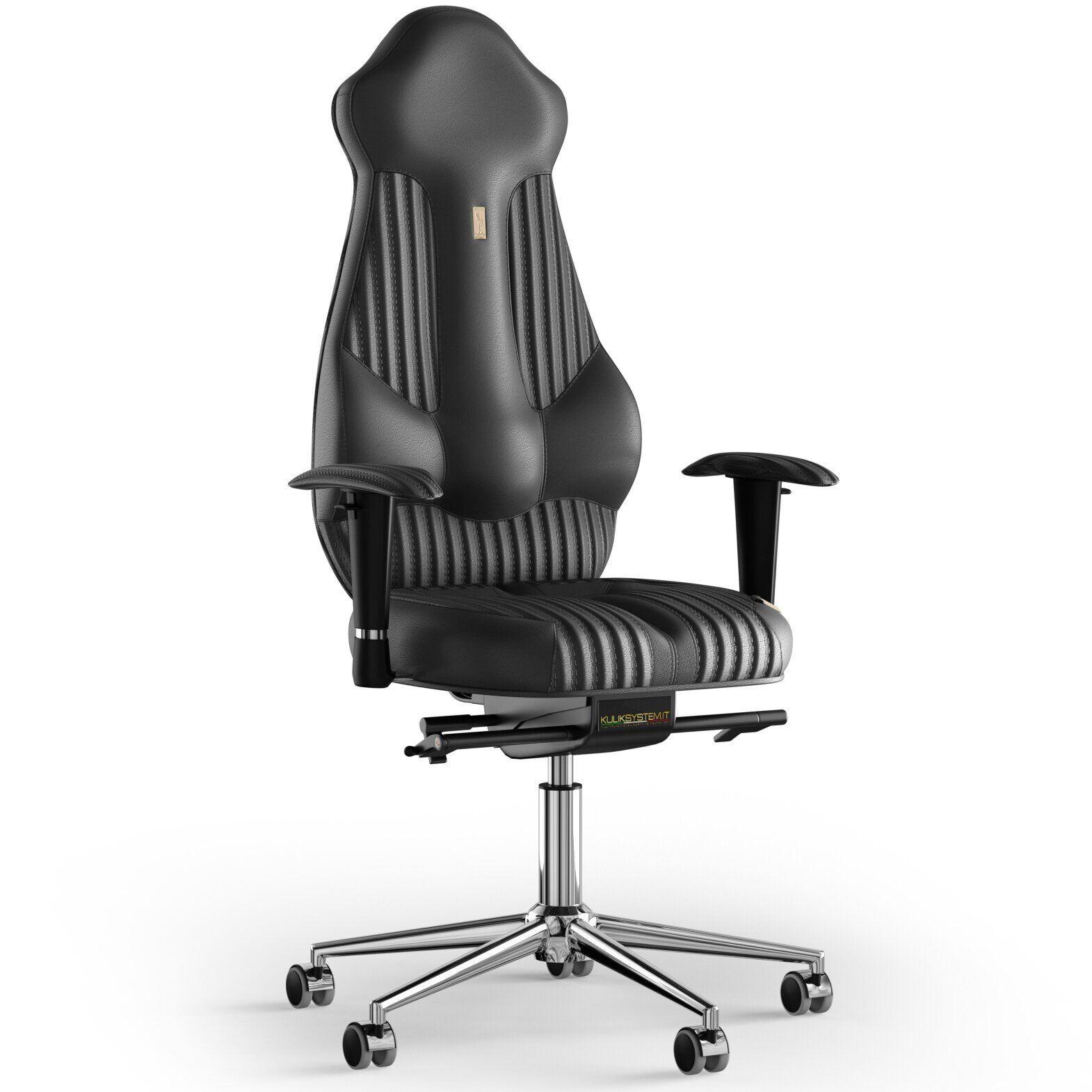 Кресло KULIK SYSTEM IMPERIAL Кожа с подголовником со строчкой