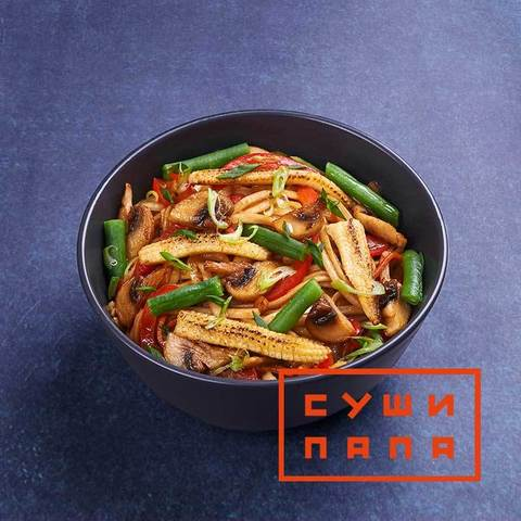 Удон с овощами в соусе хойсин